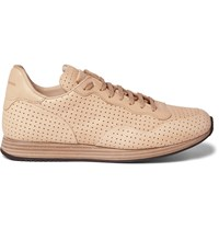 Officine Creative Keino Perforated Leather Sneakers Neutrals