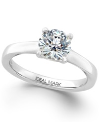 Macy's Idealmark Certified Diamond Solitaire Engagement Ring In Platinum 1 1 2 Ct. T.W.