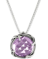 Peter Thomas Roth Lavender Amethyst Adjustable Pendant Necklace 4 Ct. T.W. In Sterling Silver