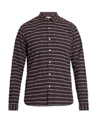 Oliver Spencer Clerkenwell Striped Cotton Shirt Navy Multi