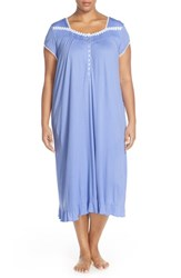 Plus Size Women's Eileen West 'Agean' Cap Sleeve Ballet Nightgown