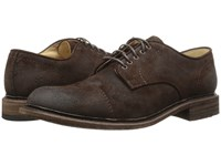 Frye Jack Oxford Dark Brown Waxed Suede Men's Lace Up Casual Shoes