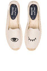Soludos Wink Embroidery Sm Slipper Beige