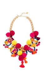 Kate Spade New York Pretty Poms Statement Necklace Multi