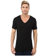 Calvin Klein Underwear Wide Neck Short Sleeve V Neck Black Men's Clothing