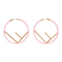 Pink And Gold 'F Is Fendi' Earrings