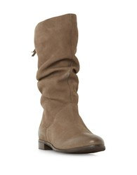 Dune Rosalind Suede Mid Calf Boots Taupe