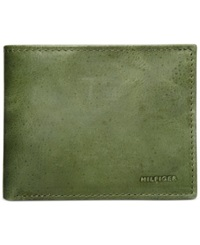 Tommy Hilfiger Peter Double Billfold Wallet Green