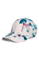 Collection Xiix Tropical Floral Satin Baseball Cap Pink