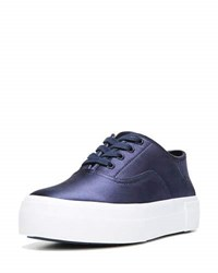 Vince Coply Satin Lace Up Sneaker Navy