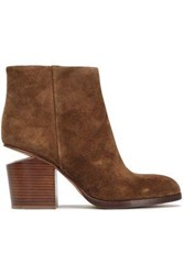 Alexander Wang Gabi Suede Ankle Boots Light Brown