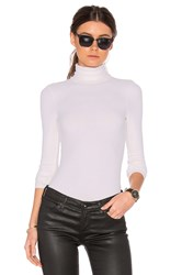 Three Dots Turtleneck Top White