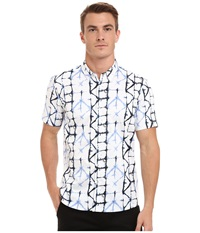 7 Diamonds Crystallize Short Sleeve Shirt White Men's Short Sleeve Button Up