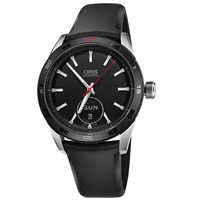 Oris 735 7662 4424 07 4 21 25Fc Men's Artix Gt Automatic Day Date Rubber Strap Watch Black