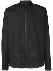 Les Hommes Perforated Shirt Black