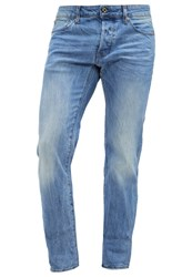 G Star Gstar 3301 Low Tapered Straight Leg Jeans Hadron Stretch Denim Light Blue Denim