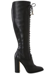 Trussardi 110Mm Lace Up Leather Boots