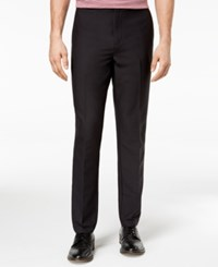 Michael Kors Men's Athleisure Stretch Flat Front Pants Black
