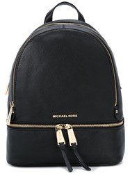 Michael Kors Gold Tone Hardware Medium Backpack Black