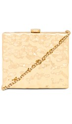 Amber Sceats Crushed Gold Bag In Metallic Gold.