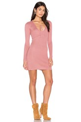 For Love And Lemons Knitz Delancey Dress Pink