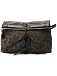 Mismo Printed Clutch Brown