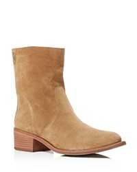 Tory Burch Siena Block Heel Ankle Booties River Rock