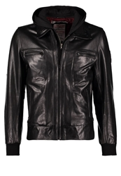 Redskins Gunner Leather Jacket Black