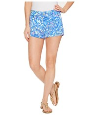Lilly Pulitzer Walsh Shorts Brilliant Blue Ceviche Women's Shorts