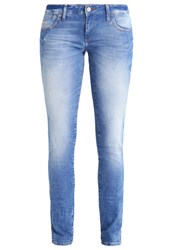 Mavi Jeans Lindy Slim Fit True Blue Bleached Denim