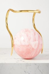 Cult Gaia Pearl Marbled Acrylic And Gold Tone Tote Baby Pink