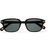 Brioni Square Frame Tortoiseshell Acetate And Gold Tone Sunglasses Tortoiseshell