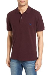 Rodd And Gunn Men's 'The Gunn' Pique Sports Fit Cotton Polo Bordeaux