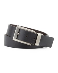 Robert Graham Danton Reversible Faux Leather Belt Black