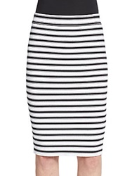 A.L.C. Marilyn Striped Pencil Skirt White Black