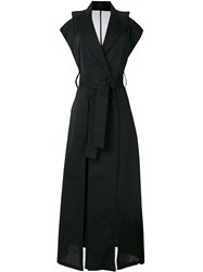 Lost And Found Ria Dunn Shortsleeved Trench Coat Black