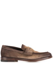 Santoni Faded Loafers Brown