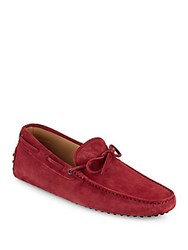 Tod's Tie Moccasin Dark Red
