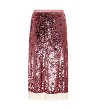 Tory Burch Cove Sequinned Skirt Pink