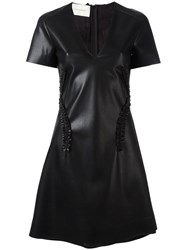 Cedric Charlier V Neck Dress Black