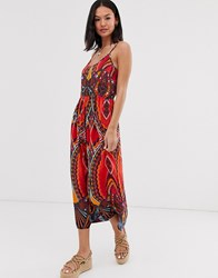 Pieces Mixed Abstract Maxi Dress Multi