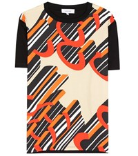 Carven Silk And Cotton T Shirt Multicoloured