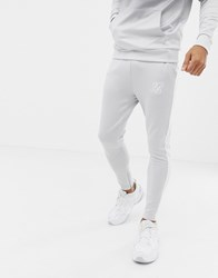 Sik Silk Siksilk Joggers In Grey Fade