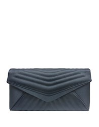 Sondra Roberts Quilted Chain Clutch Navy