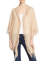 Minnie Rose Cashmere Fringe Shawl Camel