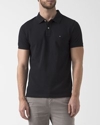 Tommy Hilfiger Slim Fit Black Stripe Reverse Collar Polo
