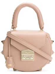 Salar Studded Mini Tote Nude And Neutrals