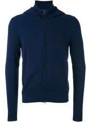 Z Zegna Hooded Sweater Blue