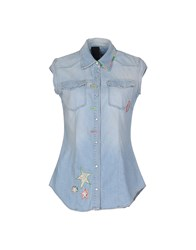 People Denim Denim Shirts Women Blue