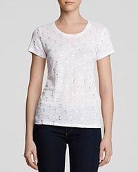 Moon And Meadow Tee Palm Tree Bleach White Silver